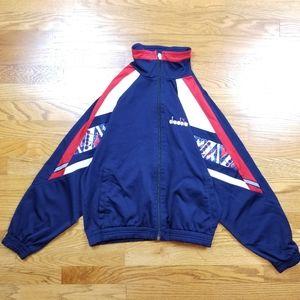 VTG 90's Diadora Track Warmup Zip Up Jacket